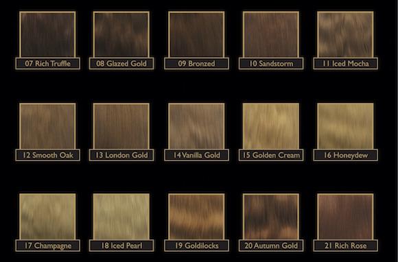 Gold Class Colour Chart