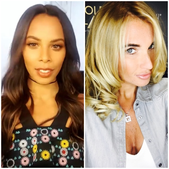 Rochelle Humes & Billie Faiers with their Gold Class Ombre locks