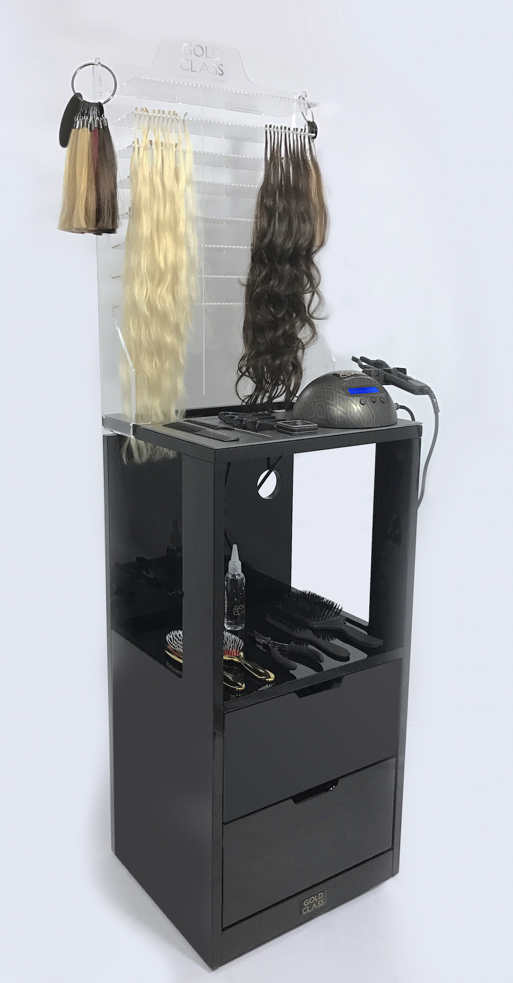 New In The Gold Class Hair Extension Workstation On Wheels Gold