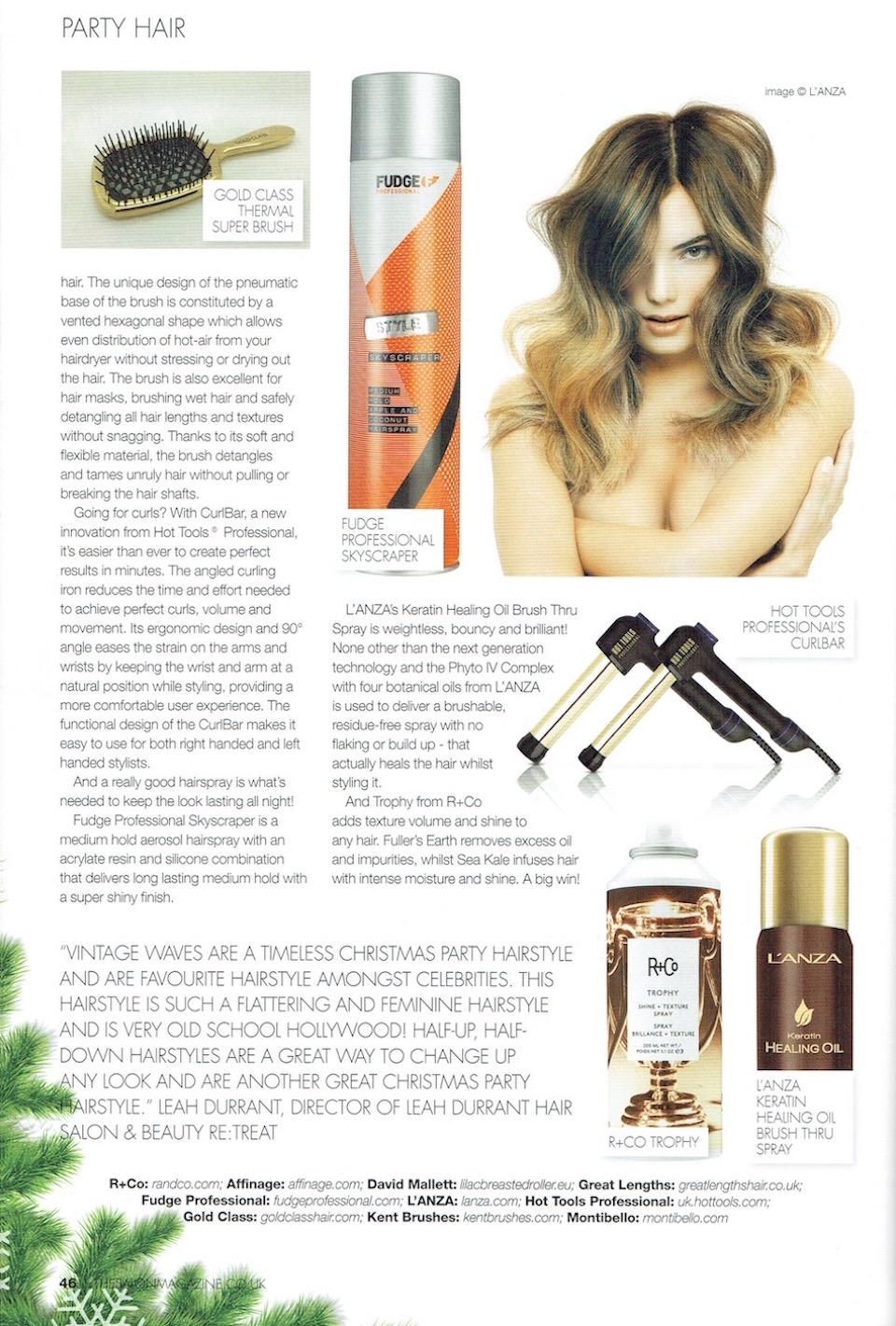 The Salon Magazine, Gold Class thermal super brush