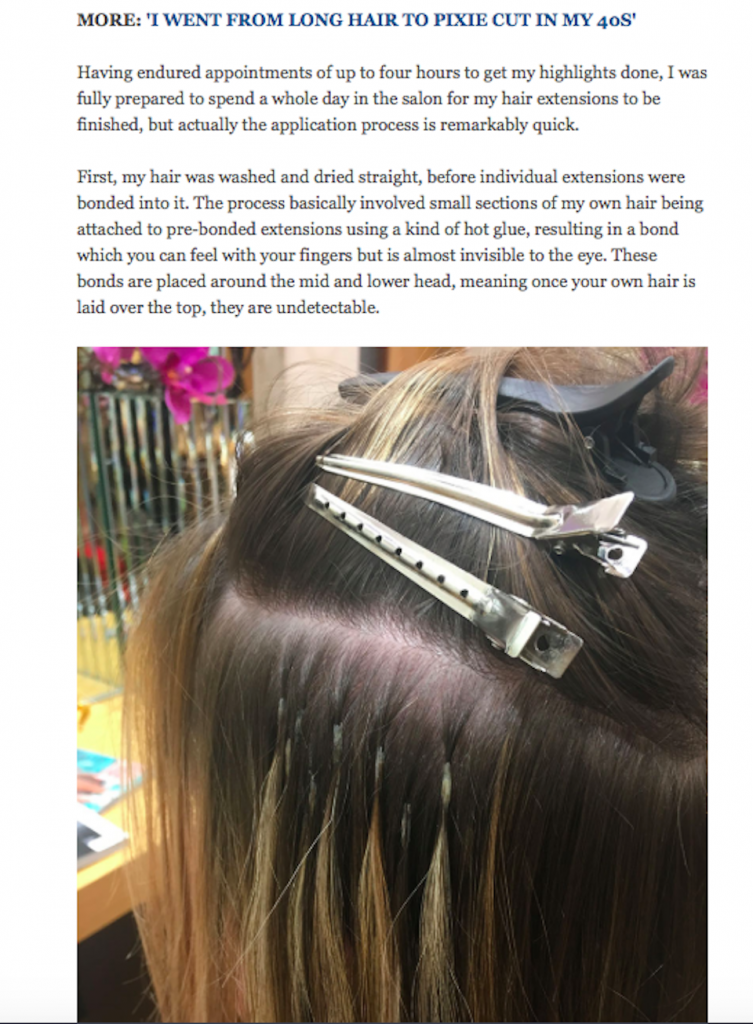 Reader Tester hair extension application