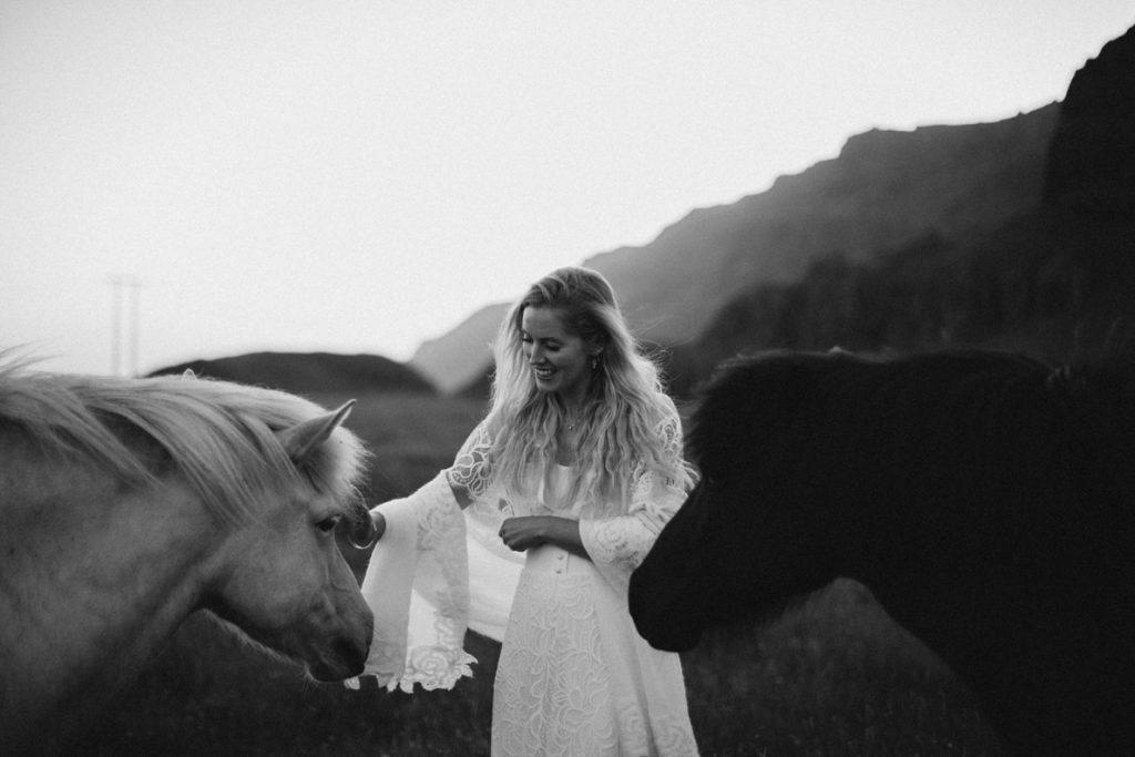 Natural White Hair bride